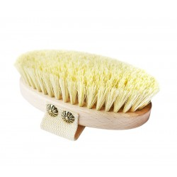 LULLALOVE Massagebürste aus Naturborsten 100% Agave Pflanze