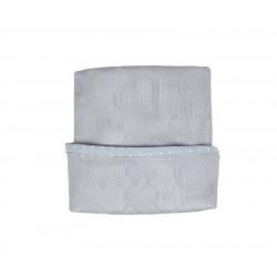 LULLALOVE SupeRRO Newborn Swaddle aus 100% Bambusviskose 110x110cm - GRAU