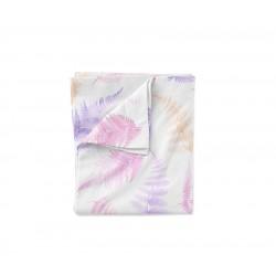 LULLALOVE Bettwäsche aus 100% Baumwolle für das Baby- und Kinderbett 100x135cm - ROSA/KORALLFARBEN