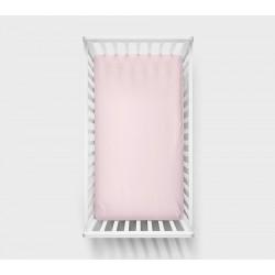 LULLALOVE Spannbettlaken rosa 60x120cm aus 100% Baumwolle