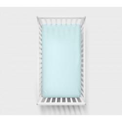 LULLALOVE Spannbettlaken blau 70x140cm aus 100% Baumwolle
