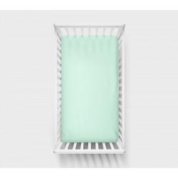 LULLALOVE Spannbettlaken mint 60x120cm aus 100% Baumwolle