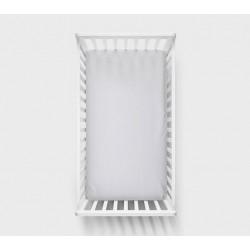 LULLALOVE Spannbettlaken grau 60x120cm aus 100% Baumwolle