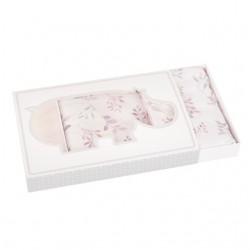 SAMIBOO - Bettwäsche aus 100% Baumwollsatin 100x135cm - THE LILAC / Kedernaht rosa