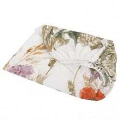 SAMIBOO Spannbettlaken 60x120cm aus 100% Baumwolle - FLOWERY MEADOW