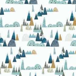 Samiboo Nestchen für die halbe Bettumrandung 70x140cm - BLUE HILLS
