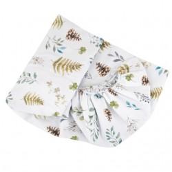 SAMIBOO Spannbettlaken 60x120cm aus 100% Baumwolle - FOREST