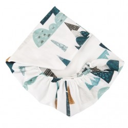 SAMIBOO Spannbettlaken 60x120cm aus 100% Baumwolle - BLUE HILLS