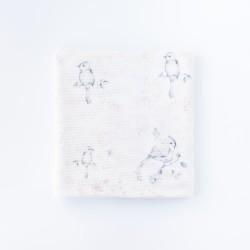 PETIT COCO bedruckte Ganzjahresdecke - Bambus + Baumwolle 75x90cm - BIRDS & PARADISE FLOWERS