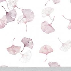 """SAMIBOO - Bettwäsche aus 100% Baumwollsatin mit """"FÜLLUNG"""" 75x100cm mit ÖHRCHEN - GINKO GRAU / Kedernaht rosa"""