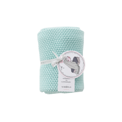 Petit Coco Grobstrick Baumwolldecke - 100% Baumwolle 75x90cm - MINT