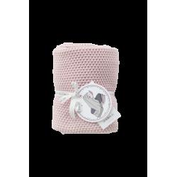 Petit Coco Grobstrick Baumwolldecke - 100% Baumwolle 75x90cm - ROSA