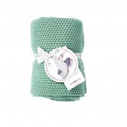 Petit Coco Grobstrick Baumwolldecke - 100% Baumwolle 75x90cm - FOREST