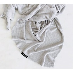 LULLALOVE First Baby Blanket / Nebeldecke - 100% Bambus 90x90cm - GRAU