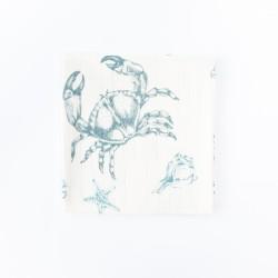 Petit Coco Swaddledecke aus 100% Bambus 120x120cm - CRAB