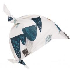 SAMIBOO - Kopftuch zum Binden mit Schirm aus 100 % Bambus - BLUE HILLS