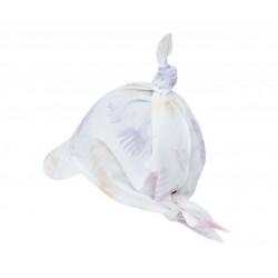 LULLALOVE - Kopftuch zum Binden mit Schirm aus 100 % Baumwolle - ROSA/KORALLFARBEN