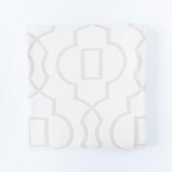 Petit Coco SAVANAH Baumwolldecke 140x180cm - BEIGE/WEIß