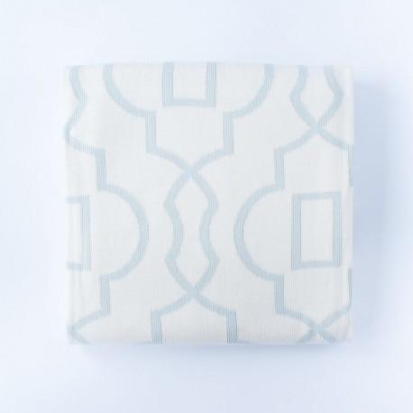 Petit Coco SAVANAH Baumwolldecke 140x180cm - LIGHT BLUE/WEIß