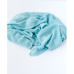 Petit Coco First Baby Blanket - 100% Bambus 85x85cm - BLUE SAND