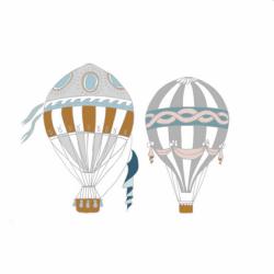DEKORNIK hochwertige Wandsticker 2 Heißluffballons - Set I