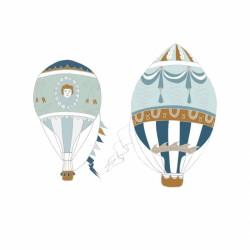DEKORNIK hochwertige Wandsticker 2 Heißluffballons - Set II
