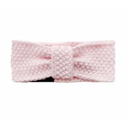 LULLALOVE Haarband aus Wolle Gr. M (3 - 5 Jahre) - ROSA