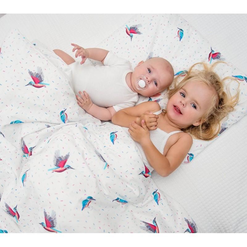 lullalove bettw sche aus 100 baumwolle f r das baby und kinderbett 100x135cm kingfisher. Black Bedroom Furniture Sets. Home Design Ideas