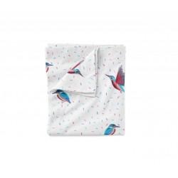 LULLALOVE Bettwäsche aus 100% Baumwolle für das Baby- und Kinderbett 100x135cm - KINGFISHER