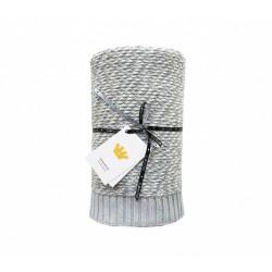 LULLALOVE warme Decke - 90x110cm - GRAU MELANGE