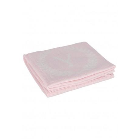 YOSOY LOGO Baumwolldecke aus 100% Baumwolle 80x100cm - ROSE