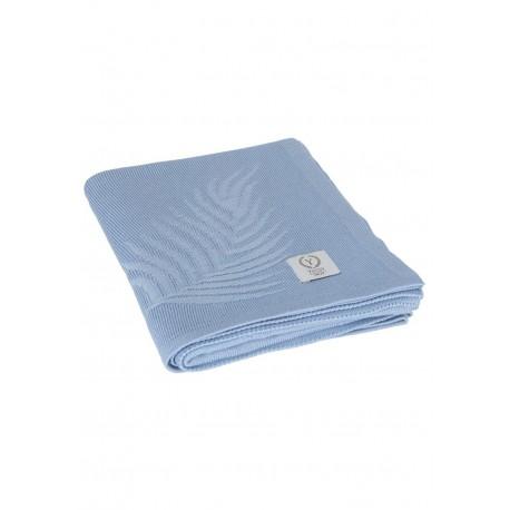YOSOY KOLIBRI Baumwolldecke aus 100% Bambus 80x100cm - BLUE