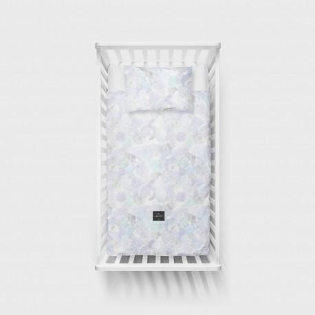 LULLALOVE Bettwäsche aus 100% Baumwolle für das Baby- und Kinderbett 100x135cm - BOHO GREY