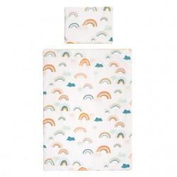 SAMIBOO - Bettwäsche aus 100% Baumwollsatin 100x135cm - RAINBOW