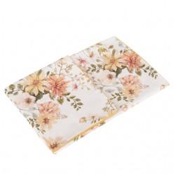 SAMIBOO - Bettwäsche aus 100% Baumwollsatin 100x135cm - VINTAGE BLOOM / Kedernaht Honig