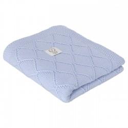 YOSOY DIAMOND Baumwolldecke - 100% Baumwolle GOTS 80x100cm - BLUE