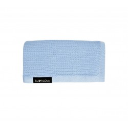 LULLALOVE First Baby Blanket / Nebeldecke - 100% Bambus 90x90cm - BLAU