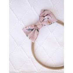 YOSOY Haarband mit Schleife Gr. 0 Monate - 4 Jahre - ROSE/ FLOWERS
