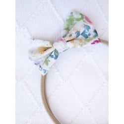 YOSOY Haarband mit Schleife Gr. 0 Monate - 4 Jahre - WHITE/ FLOWERS