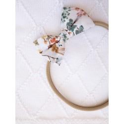YOSOY Haarband mit Schleife Gr. 0 Monate - 4 Jahre - WHITE/ VINTAGE FLOWERS