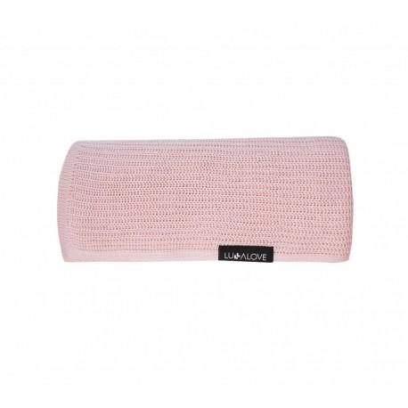 LULLALOVE First Baby Blanket / Nebeldecke - 100% Bambus 90x90cm - POWDER ROSE