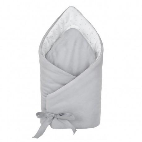 YOSOY Einschlagdecke CELEBRITY aus 100% Baumwolle - GREY/ WHITE