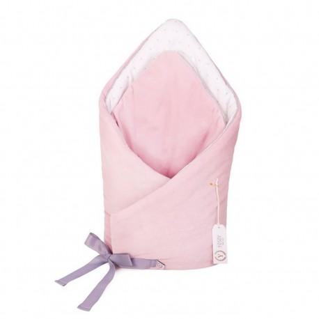 YOSOY Einschlagdecke CELEBRITY aus 100% Baumwolle - ROSE/ WHITE