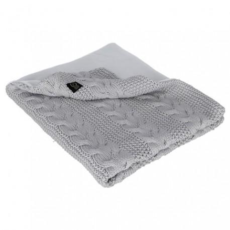 YOSOY zweiseitige Decke Baumwolle/Polarfleece - 75x90cm - CREAM