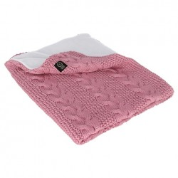 YOSOY zweiseitige Decke Baumwolle/Polarfleece - 75x90cm - DUSKY PINK