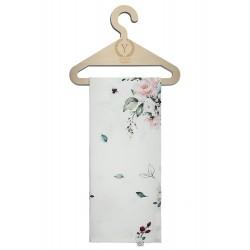 YOSOY fließende Swaddledecke aus 100% Bambus 120x120cm - VINTAGE ROSES