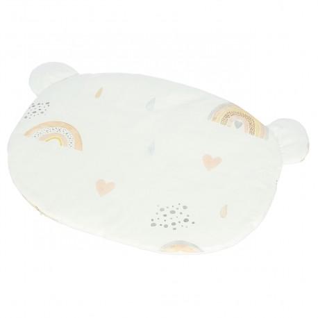 YOSOY - Babykissen aus Baumwollmusselin 100% ORGANIC COTTON GOTS 40x30cm - PINK RAINBOW