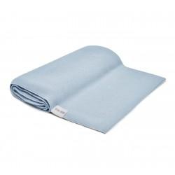 QBANA MAMA leichte Decke aus 100% Bambus 80x80cm - BABY BLUE