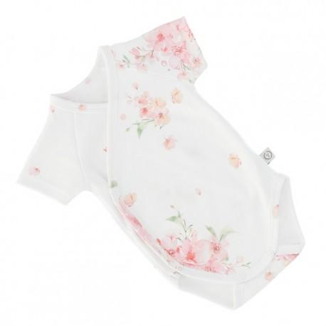 YOSOY Wickelbody kurzarm aus 100% Organic Cotton GOTS Gr. 68/74 - JAPANES FLOWERS