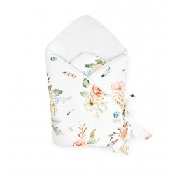 Qbana Mama Einschlagdecke aus Bambus - VINTAGE FLOWERS